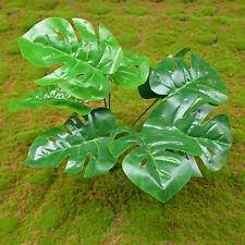 Hot 2x Green Artifical Plastic Plants Home Garden Wedding Decor 9 Branches NEW