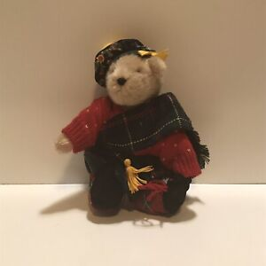"""Muffy Vanderbear 8"""" Tall - Jointed Bear Highland Fling with Tag"""