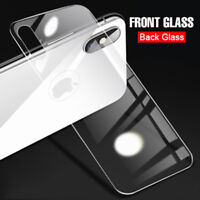 Back Rear Tempered Glass Screen Protector Film Cover for Apple iPhone XS MAS