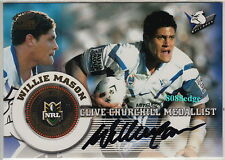 2005 SELECT POWER NRL SIGNATURE AUTO: WILLIE MASON #37/50 AUTOGRAPH CASE CARD
