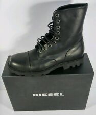 Diesel Mens Military Motorcycle Leather Steel Boots Size 9 (42)