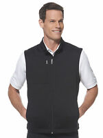 Callaway Golf - Mens S-XL, XXL, 3XL Full Zip, Chevron FLEECE Vest, Jacket, BLACK