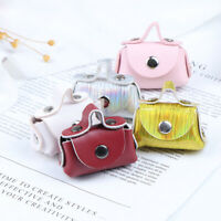 1Pc 1/6 1/12 Dollhouse Miniature PU Leather Bags Doll House Accessories WW