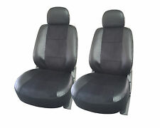 2 front car seat cover Leather semi custom for Pontiac 168 Black