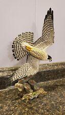 Danbury Mint Streaking Splendor Jeff Rechin Hand Painted Figurine Hawk Bird