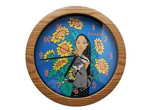 """Disney's Pocahontas Deluxe Moving Meeko Wall Clock Fantasma 11"""" Round"""
