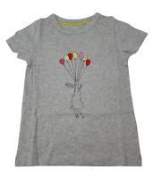Ex Mini Boden Girls T-shirt Top Grey Balloon Print ages 5-16 NEW