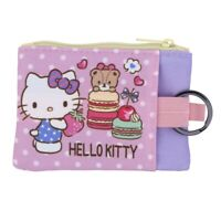 Sanrio Hello Kitty Two-Zipper Coin Purse Pouch with Key Ring (9-7132-7)