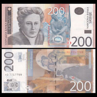 Serbia 200 Dinara, 2013, P-58b, Paper Banknote, UNC