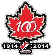 """Canada Hockey Team 100th Anniversary Car Bumper Window Vinyl Sticker Decal 4""""X5"""""""
