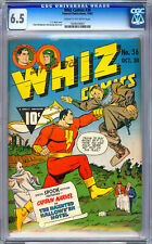 WHIZ COMICS #36 CGC 6.5 FEATURING *ORIG GOLDEN AGE CAPTAIN MARVEL* FAWCETT 1942