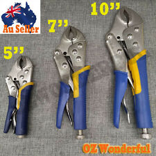 3 Piece Curved Jaw Locking Pliers Vise Vice Multi Grips Soft Handle Carbon Steel