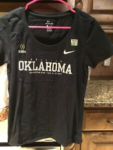 Black Crew Neck Nike Oklahoma Sooners Shirt Brand new Large