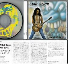 EARL SLICK In Your Face WPCP-4621 w/INSERT Free S&H David Bowie,Terry Bozzio