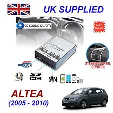 For Seat ALTEA MP3 SD USB CD AUX Input Audio Adapter Digital CD Changer Module12