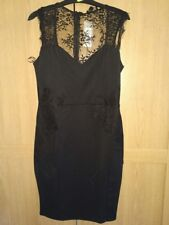 BNWT Lipsy Black All Over Lace Bodycon Dress - size 14/12