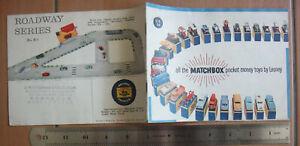 BS2-3) UK England 1960 Matchbox Catalog by Lesney Car Vintage Bus Truck Train