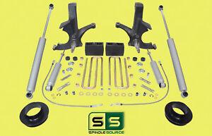 "7""/5"" SPINDLES,BLKS,SPACER,SHOCKS W/O.L. FITS 88-00 CHEVY C2500/C3500 2WD 8 LUG"
