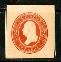 US Stamps # U239 2c Cut Square SUPERB Mint