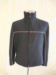 Mens Jacket C&A size XXL black softshell polyester, boxy cut, used vgc 7683