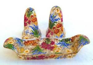 Vintage Royal Winton Chintz Marguerite Shakers