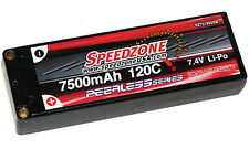 Speedzone 7500 mAh 120C Hard Case Lipo 2S 7.4V Racers Edge Hardcase Battery NEW