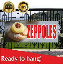 Zeppoles Banner Vinyl Mesh Banner Sign Cafe Funnel Cake Cakes Food Soda