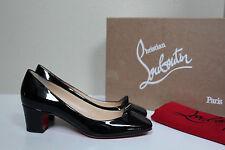 6 / 36 Christian Louboutin Pyramidame Stud Black Patent Leather Heel Pump Shoes