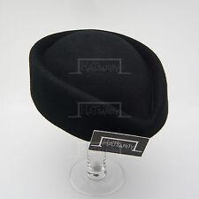 CLASSIC Wool Felt Ladies Pillbox Hat Women FORMAL Party DIY Fascinator | Black