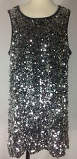 Rumm Girls Tween Silver Sequin Gray Party Holiday Tunic Dress Size 16 XXL