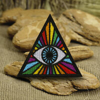 Punk Eye Embroidery Sew On Iron On Patch Badge Clothes Fabric Applique DIY Craft