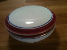Antique Powell & Bishop Small Dish with lid - Hand painted - 1870's