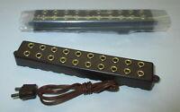 Verteilerleiste mit Stecker,  10 Anschlüße (2,6mm)   2 Stück   -NEU-