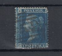 GB QV 1858 2d Blue SG45 Plate 12 Fine Used J5885