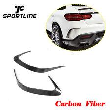 Rear Bumper Fins Vents For Benz C292 Sport Coupe GLE63 GLE43 15-17 Carbon Fiber