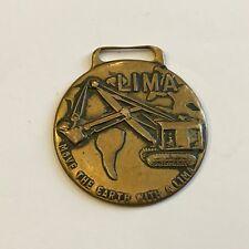 Rare Lima Locomotive Works Inc. Watch Fob Vintage Shovel & Crane Division