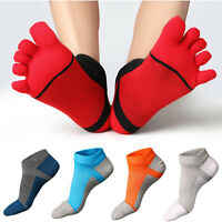 Hot Combed Mens Five Fingers Toe Cotton Ankle Casual Work Sport Short Boot Socks