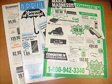 3 VINTAGE 1988 COMMTRON ELECTRONICS SOLON OHIO CB CATALOGS STEREO ETC / E9