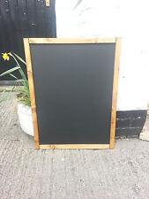 DARK PINE WOODEN FRAME CHALKBOARD - BLACKBOARD - 80 x 60cm