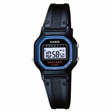 Casio LA11WB-1, Women's Digital Watch, Black Resin Band, Alarm