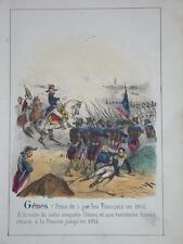 RARE Litho Couleur NAPOLEON PRISE GENES GENOVA GENOA ITALIE ITALIA 1830 LIGURIA