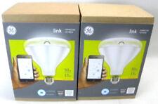 Lot of 2 GE Link Wink 90W Equivalent Bright White 3000K PAR38 LED Lights