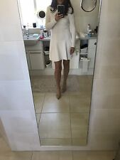 Asos Women's Cream Knitted Fit And Flare Dress In A Size Uk 10 Kate Middleton