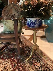 Table Vintage MADE In ITALY Florentine Round Gold GILT Orange HOLLYWOOD REGENCY