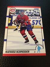 Mathieu Schneider  Canadiens 1990-1991 Score #127
