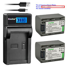 Kastar Battery LCD Charger for Sony NP-FP70 NP-FP71 NPFP70 NPFP71 & Sony HDR-HC3