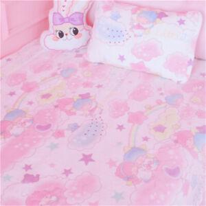 Little Twin Stars Blanket Bed Sheet Flannel Plush Throws Beddings Pillowcase