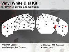 BMW 3 Series E36 Compact (1990 - 2000) - 160mph / 7000rpm - Vinyl White Dial Kit