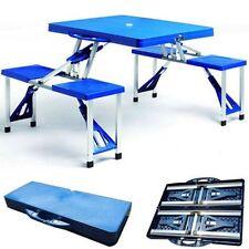 Set kit pic nic tavolo sedie birreria in valigia richiudibile da viaggio camping
