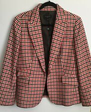 NWT TALBOTS WOMEN'S PETITE houndstooth WOOL BLEND  COAT JACKET size 14P $189